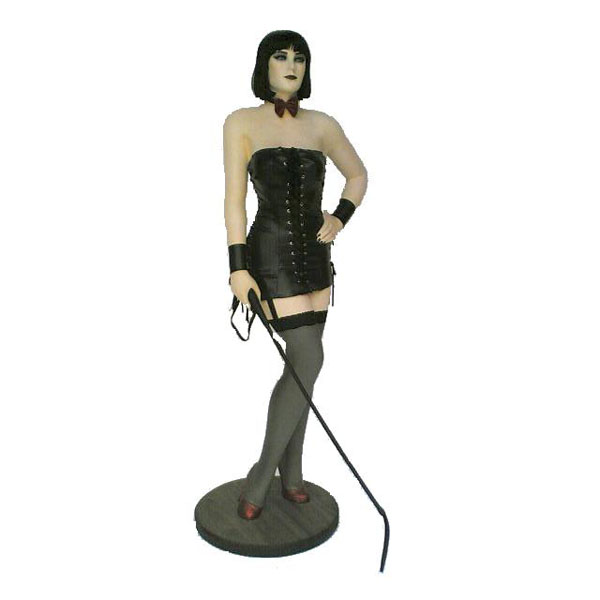 Erotic Girl with Whip Statue