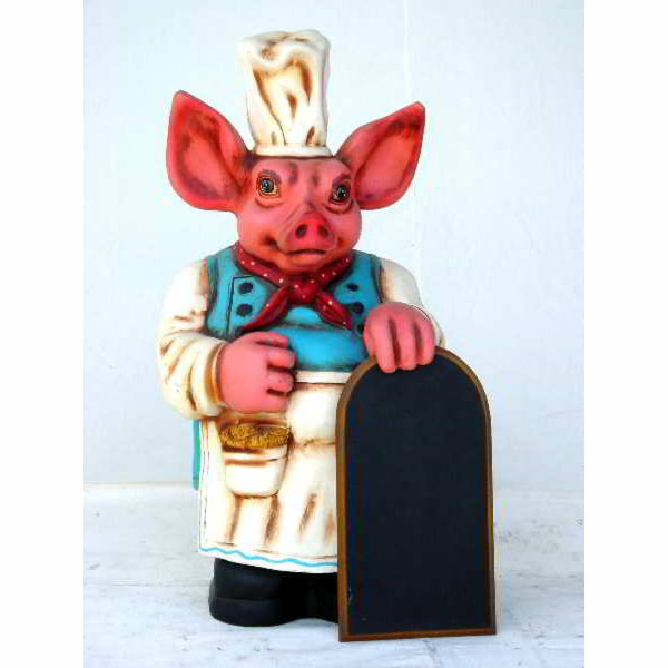 Pig with Black Board