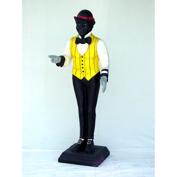 Butler 6\' Life Size Statue