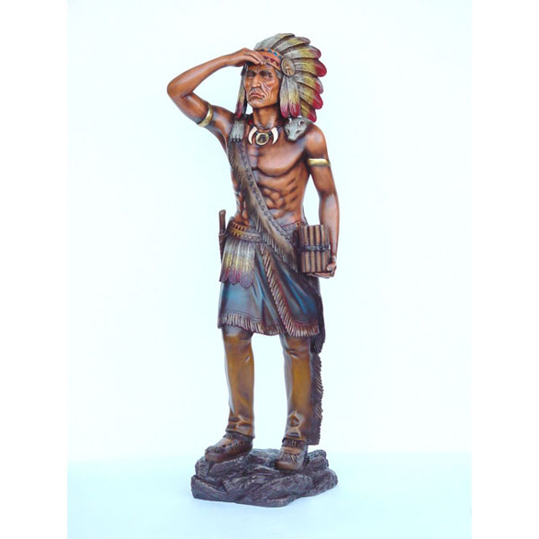 Fiberglass Cigar Store Tobacco Indian 4 ft