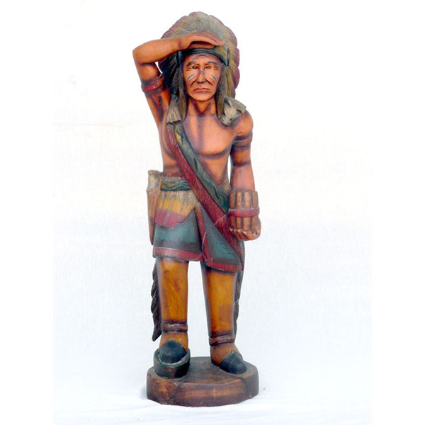 Wood Cigar Store Tobacco Indian 3 ft