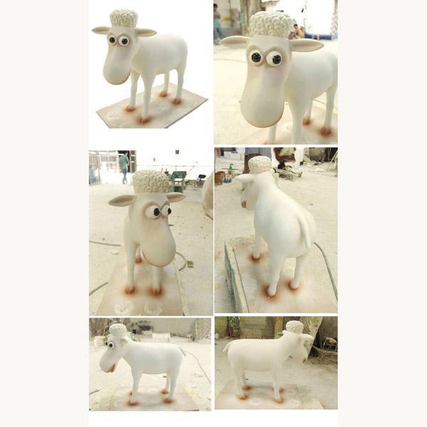 Figurine Sheep Statue Animal Farm Statue Counting Sheep Statue Serta