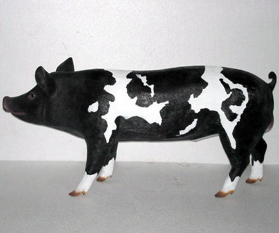 Pig life like figure figurine resin plastic outdoor statue