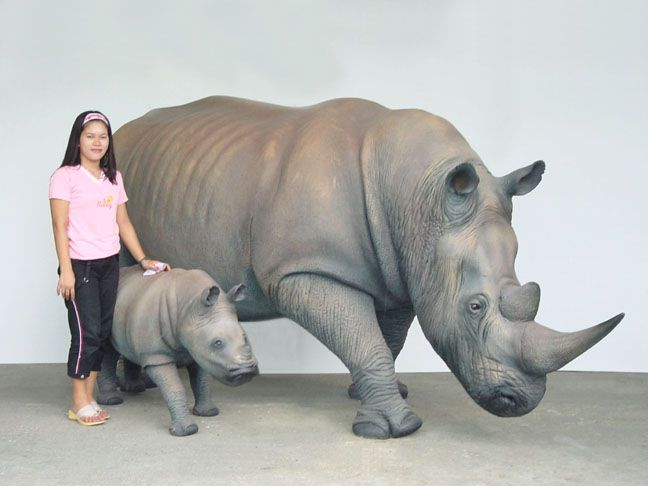 "Rhino ""Mommy"" - Click Image to Close"