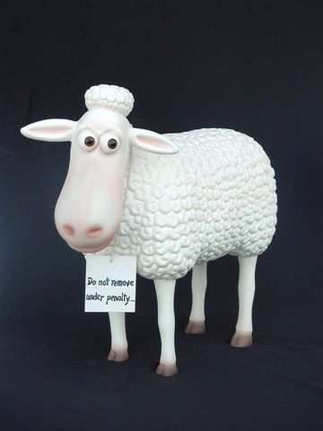 Large Funny Sheep standing