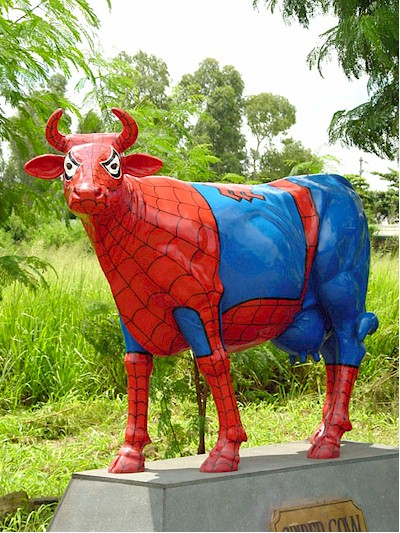Spidercow 7009y 1 199 99 Life Size Fiberglass Statues