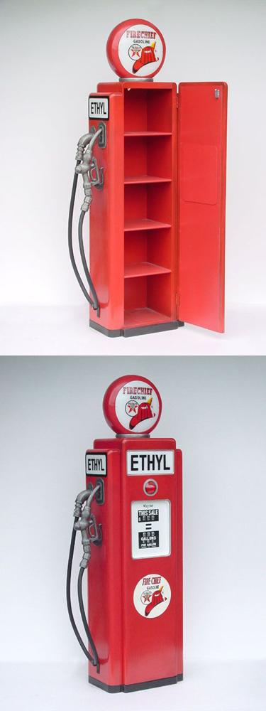 Gas Pump Cabinet Red